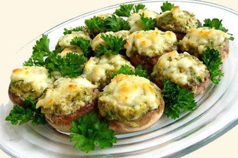 Грибы фаршированные в духовке пошаговый рецепт с с сыром