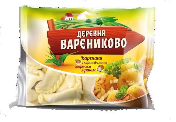 Вареники с картофелем и жареным лучком